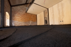 Brescia - Casa privata:  isolamento con manto antirumore e anticalpestio